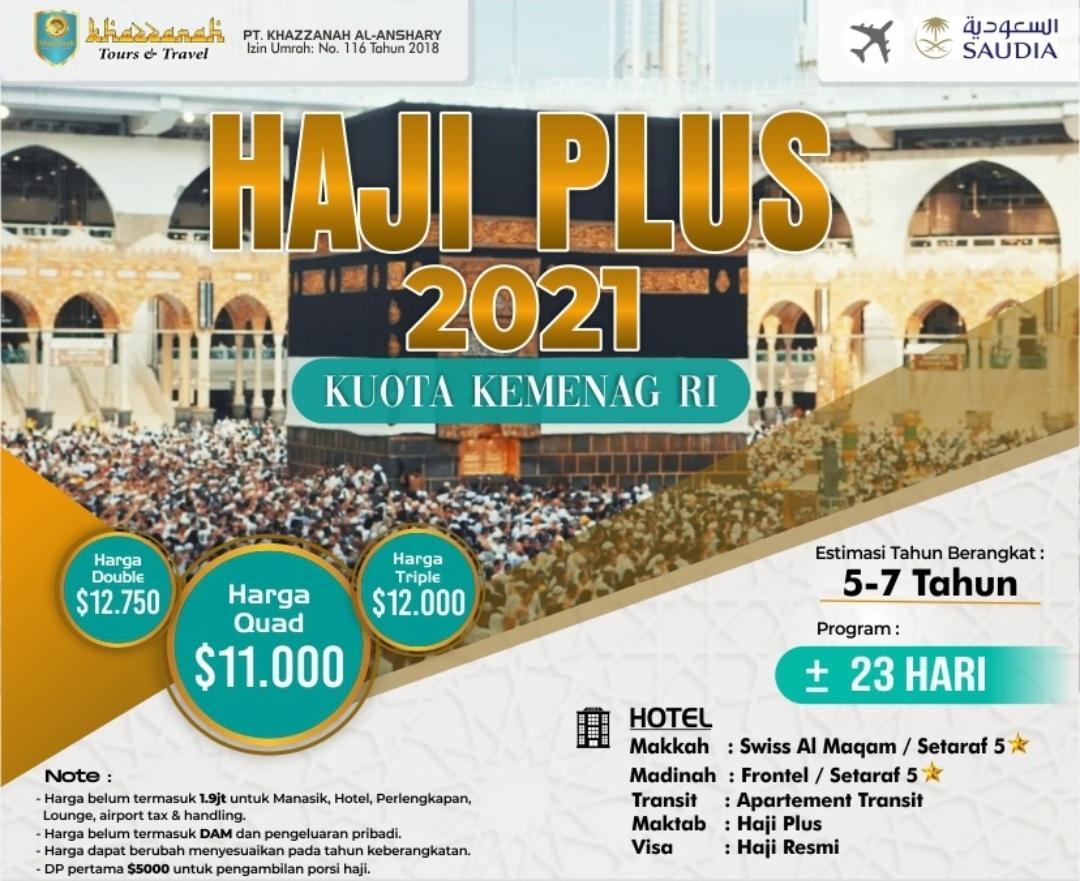 Paket Haji ONH Plus 2021 Kuota Kemenag RI