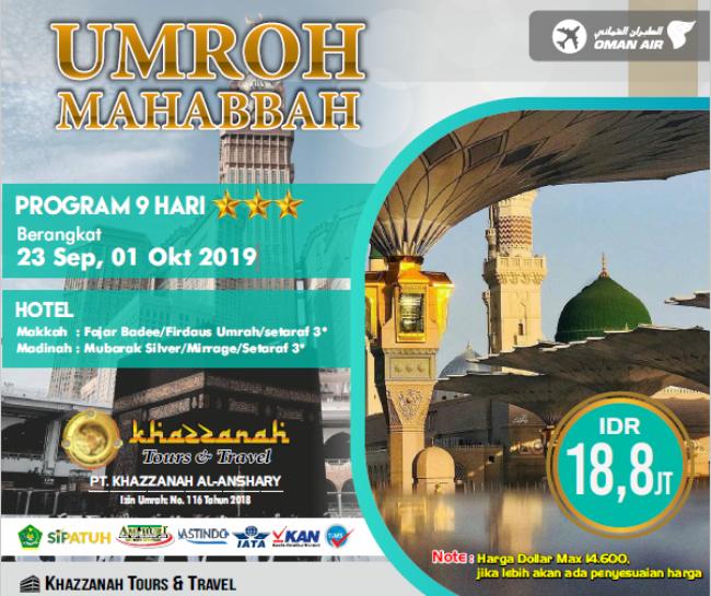 Paket Umroh Bulan September 2020 Bekasi