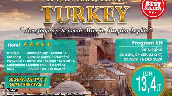 "Tour Wisata Muslim Halal Turki 8D 5N *5 Only Rp. 11,9 Juta<span class=""rating-result after_title mr-filter rating-result-1139""><span class=""mr-star-rating"">    <i class=""fa fa-star mr-star-full""></i>        <i class=""fa fa-star mr-star-full""></i>        <i class=""fa fa-star mr-star-full""></i>        <i class=""fa fa-star mr-star-full""></i>        <i class=""fa fa-star mr-star-full""></i>    </span><span class=""star-result"">5/5</span><span class=""count"">(1)</span></span>"