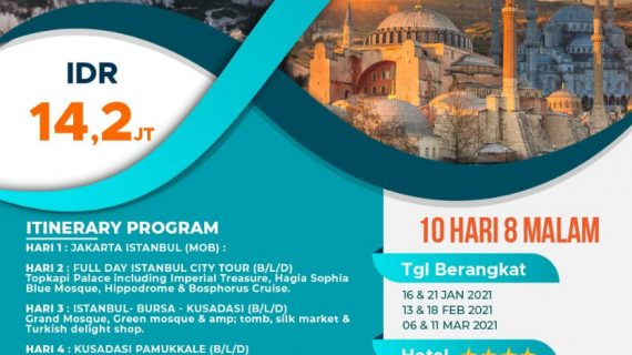 "Wisata Tour Muslim Turki 2021 Wonderful Turkey 10D8N<span class=""rating-result after_title mr-filter rating-result-1412"">	<span class=""mr-star-rating"">			    <i class=""fa fa-star mr-star-full""></i>	    	    <i class=""fa fa-star mr-star-full""></i>	    	    <i class=""fa fa-star mr-star-full""></i>	    	    <i class=""fa fa-star mr-star-full""></i>	    	    <i class=""fa fa-star mr-star-full""></i>	    </span><span class=""star-result"">	5/5</span>			<span class=""count"">				(1)			</span>			</span>"