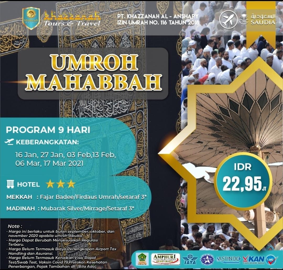 Paket Umroh Mahabbah 2021